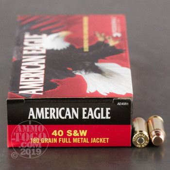 Image of 1000rds - 40 S&W Federal American Eagle 180gr. FMJ Ammo