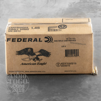 Image of 1000rds - 5.56 Federal Lake City M855 62gr Penetrator Ammo