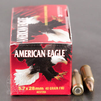 Image of 500rds - 5.7x28mm Federal American Eagle 40gr. TMJ Ammo