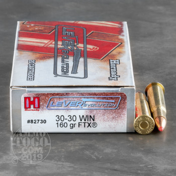 Image of 200rds – 30-30 Hornady LEVERevolution 160gr. FTX Ammo