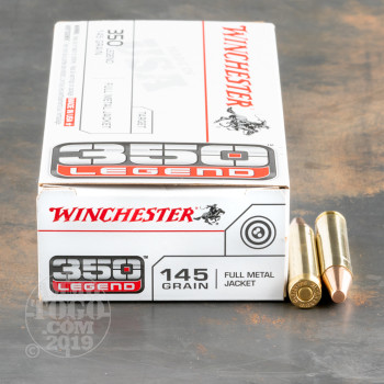 Image of 200rds – 350 Legend Winchester USA 145gr. FMJ Ammo