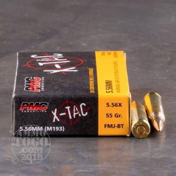 Image of 1000rds - 5.56 PMC X-TAC 55gr. (XP193) Full Metal Jacket Ammo