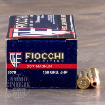Image of 1000rds - 357 Magnum Fiocchi 158gr. JHP Ammo