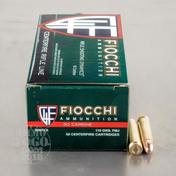 Image of 50rds – 30 Carbine Fiocchi Rifle Shooting Dynamics 110gr. FMJ Ammo
