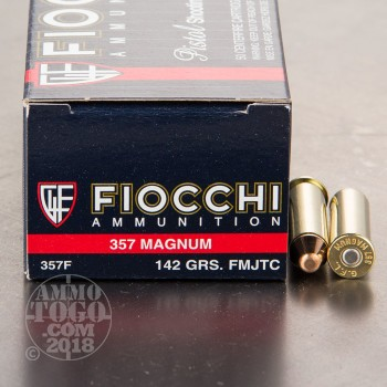 Image of 1000rds - 357 Mag Fiocchi 142gr. FMJ Ammo