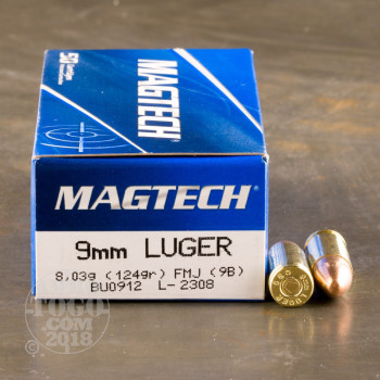 Image of 1000rds - 9mm MAGTECH 124gr. FMJ Ammo