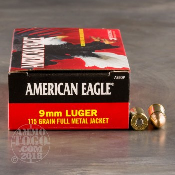 Image of 1000rds - 9mm Federal American Eagle 115gr. FMJ Ammo