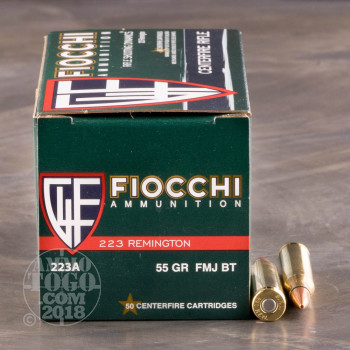 Image of 1000rds - .223 Fiocchi 55gr. FMJ Ammo