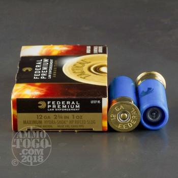 Image of 250rds - 12 Gauge Federal LE Tactical Low Recoil Hydra-Shok Slug
