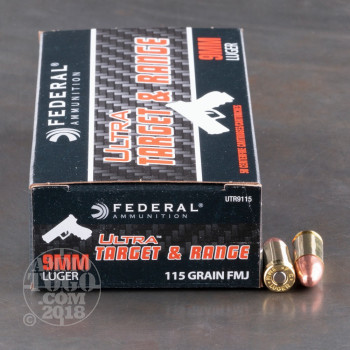 Image of 1000rds - 9mm Federal Ultra 115gr. FMJ Ammo