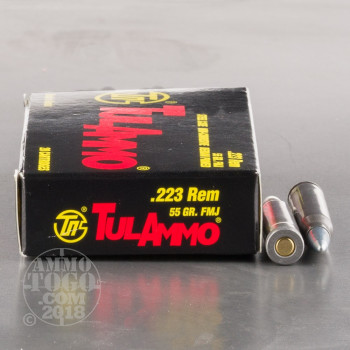 Image of 1000rds - 223 Tula 55gr. FMJ Ammo