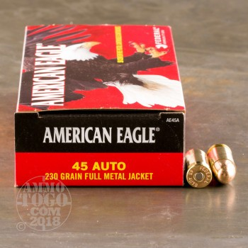Image of 1000rds - 45 ACP Federal American Eagle 230gr. FMJ Ammo