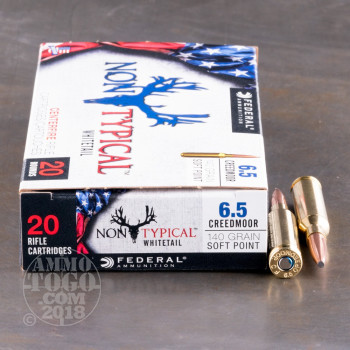 Image of 200rds - 6.5 Creedmoor Federal Non-Typical 140gr. SP Ammo