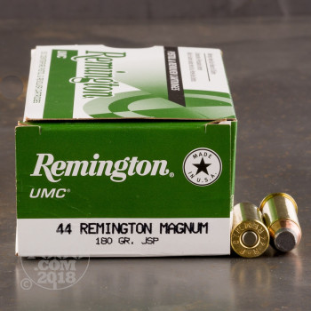 Image of 500rds - 44 Mag Remington UMC 180gr. JSP Ammo