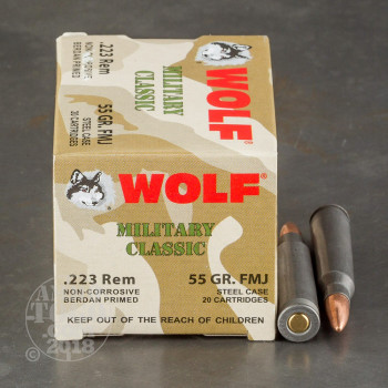 Image of 500rds - 223 WPA Military Classic 55gr. FMJ Ammo