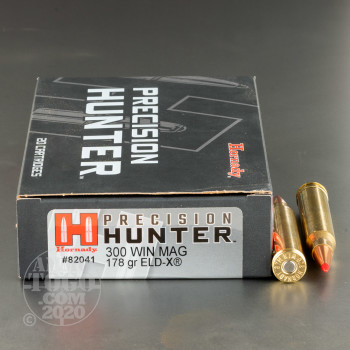 Image of 20rds – 300 Win Mag Hornady Precision Hunter 178gr. ELD-X Ammo