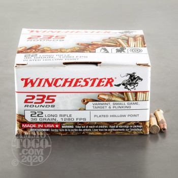 Image of 235rds - 22LR Winchester 36gr Copper Plated Hollow Point
