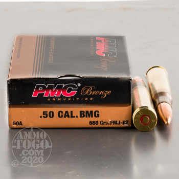Image of 10rds - 50 Cal. BMG PMC Bronze 660gr. Ball Ammo