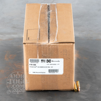 Image of 1000rds – 223 Rem Hornady Frontier 55gr. FMJ Ammo