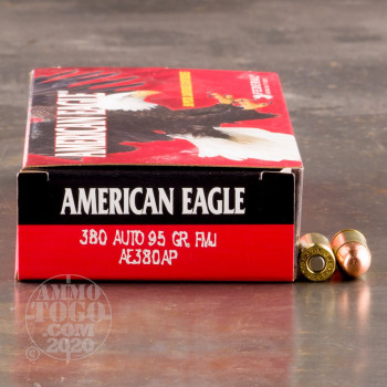 Image of 1000rds - 380 Auto Federal American Eagle 95gr. FMJ Ammo