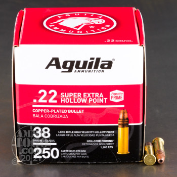 Image of 250rds – 22 LR Aguila 38gr. CPHP Ammo
