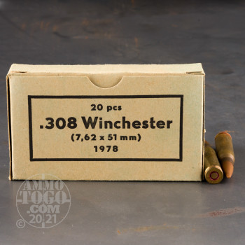Image of 500rds – 308 Win Sellier & Bellot Military Surplus 70's Production 147gr. FMJ Ammo *Corrosive*