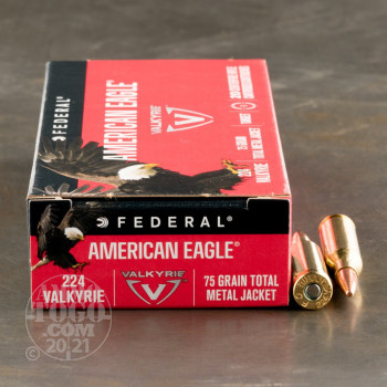 Image of 200rds - 224 Valkyrie Federal American Eagle 75gr. TMJ Ammo