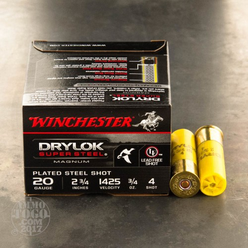 20 Gauge Ammo  4 Oz   4 Shot By Winchester