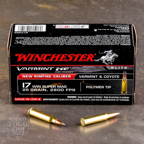 17 Win Super Mag WSM Ammunition for Sale Winchester 25