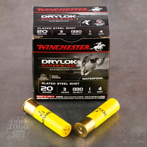 20 Gauge  4 Shot Ammo For Sale By Winchester