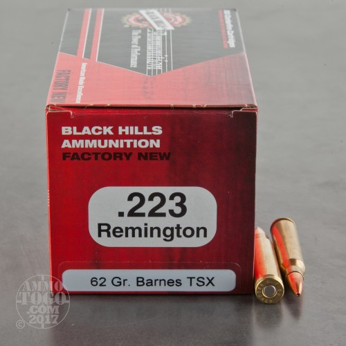 223 Remington Ammo 50 Rounds Of 62 Grain Tsx By Black