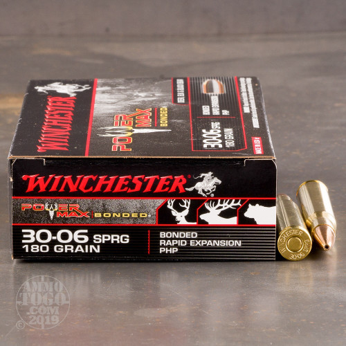 20rds - 30-06 Winchester Power Max Bonded 180gr  HP Ammo