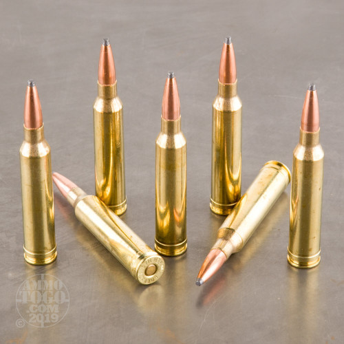 20rds - 7mm Rem Mag Hornady Custom 162gr  Boat-Tail Spire Point Ammo