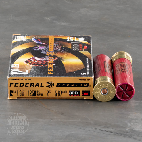 5rds – 12 Gauge Federal 3rd Degree 3-1/2