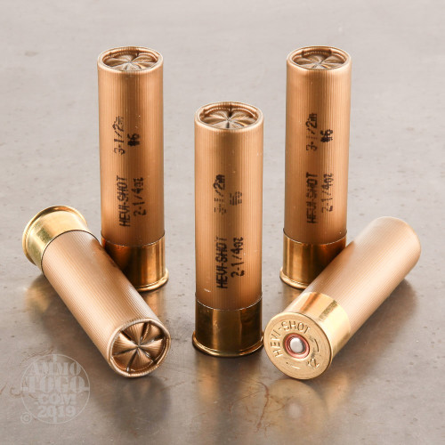 12 Gauge #6 Shot Ammo for Sale by Hevi-Shot - 5 Rounds