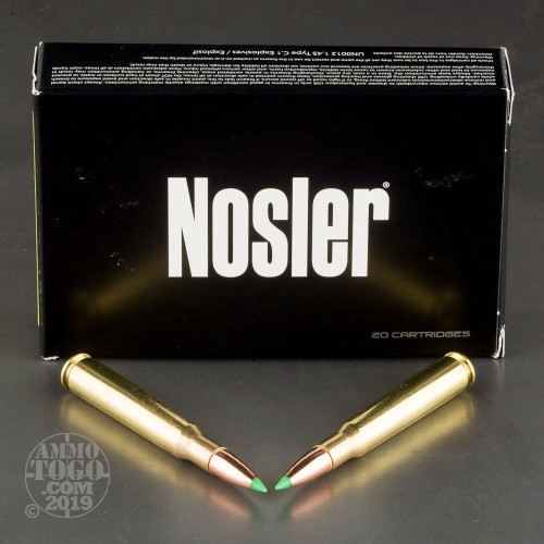 20rds – 30-06 Springfield Nosler Hunting 125gr  Ballistic Tip Ammo