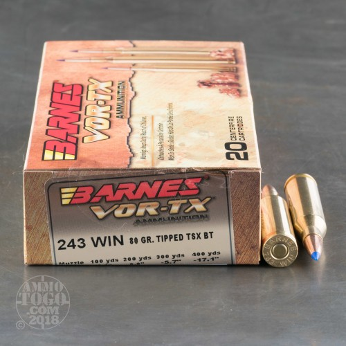 243 Winchester Ttsx Ammo For Sale By Barnes 20 Rounds