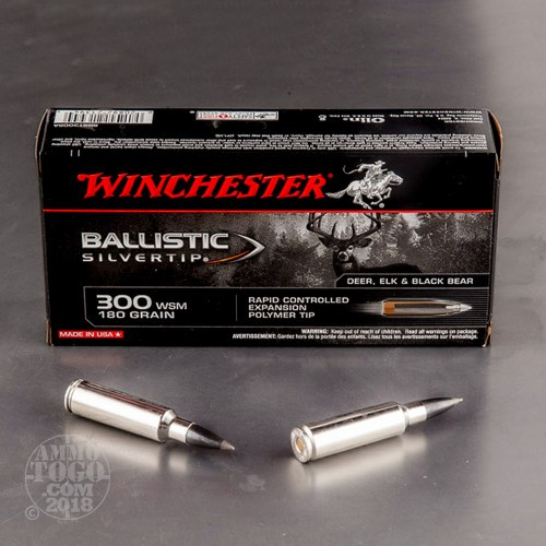 300 win short mag polymer tipped ammo for sale by winchester 20 rounds