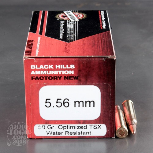 5 56x45mm Tsx Ammo For Sale By Black Hills Ammunition 50