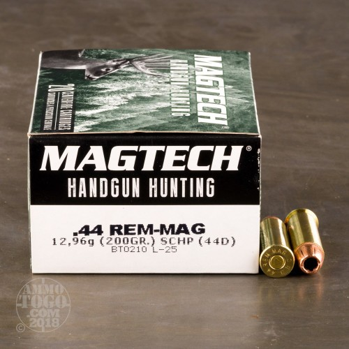 44 Magnum Ammunition For Sale Magtech 200 Grain Jacketed
