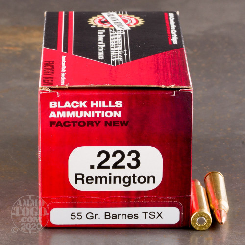 223 Remington Ammo - 50 Rounds of 55 Grain TSX by Black ...