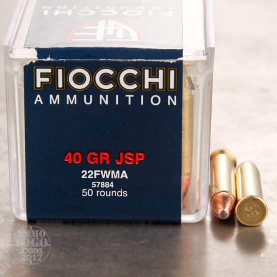 500rds - 22 Mag Fiocchi 40gr. Jacketed Soft Point Ammo