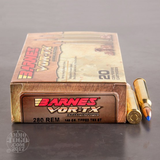 20rds - 280 Rem. Barnes 140gr. Tipped TSX BT Ammo