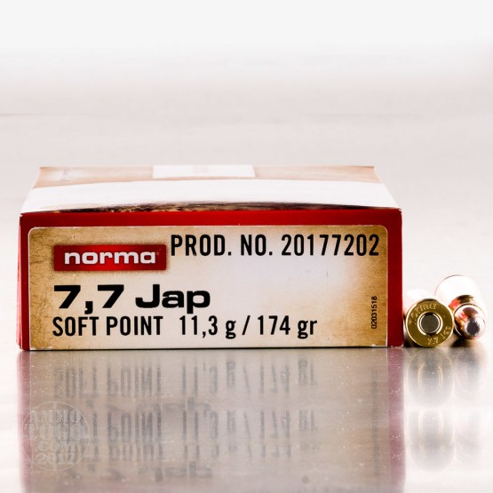 20rds - 7.7 Jap Norma 174r. Soft Point Ammo