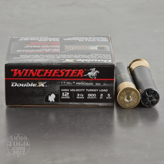 "10rds - 12 Gauge Winchester Double-X 3 1/2""  2oz.  #5 Turkey Load"