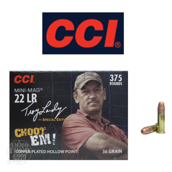 375rds - 22LR CCI Troy Landry Choot Em! Mini-Mag 36gr. Hollow Point Ammo