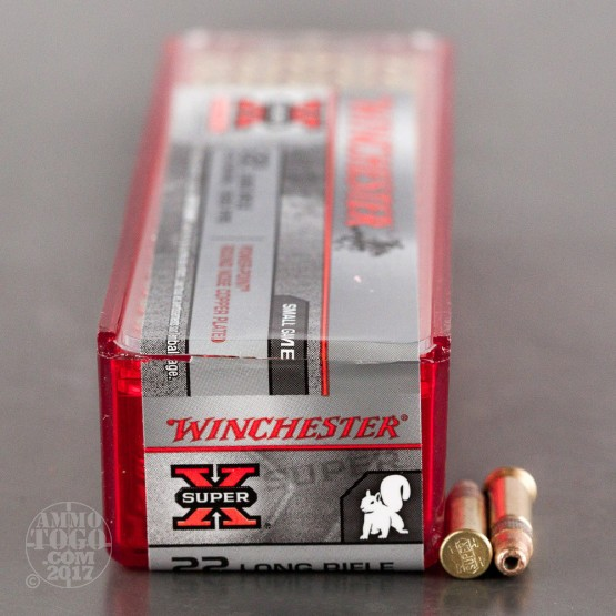 100rds - 22LR Winchester Super-X 40gr. Power Point Round Nose Copper Plated HP Ammo