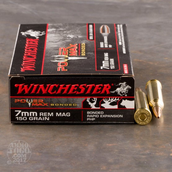 20rds - 7mm Rem. Mag. Winchester Super-X 150gr. Power Max Bonded PHP Ammo