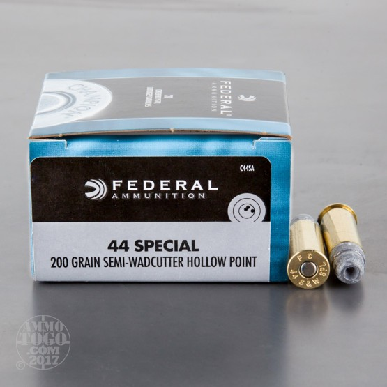 20rds - 44 Special Federal 200gr. Semi-Wadcutter Hollow Point Ammo