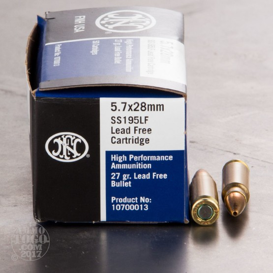 500rds - 5.7x28mm FN SS195LF 27gr. Hollow Point Ammo